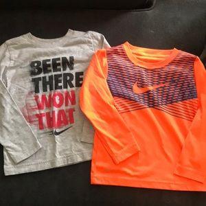 Boys Nike long sleeve shirts.